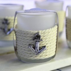 """Anchors Away"" Rope Tea Light Holder (Set of 4)"