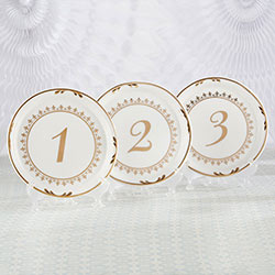 Tea Time Vintage Plate Table Numbers (1-6)