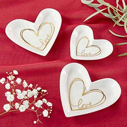 Heart Shaped Trinket Dish - Medium