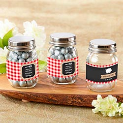 Personalized Mini Mason Jar - BBQ (Set of 12)