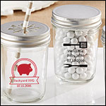 Personalized Printed Mason Jar - BBQ (Set of 12)