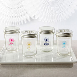 Personalized Glass Mason Jar - Sunflower (Set of 12)