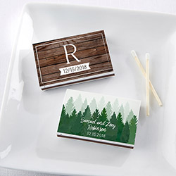 Personalized White Matchboxes - Winter (Set of 50)