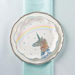 Enchanted Unicorn 9 in. Paper Plates (Set of 8)
