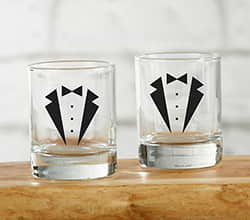 Tuxedo Shot Glass (Set of 4)