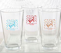 Personalized 16 oz. Pint Glass - Its a Boy!