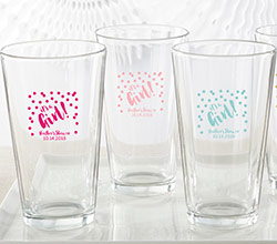 Personalized 16 oz. Pint Glass - Its a Girl!