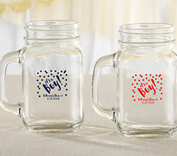 Personalized 16 oz. Mason Jar Mug - Its a Boy!
