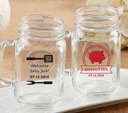 Personalized 16 oz. Mason Jar Mug - BBQ