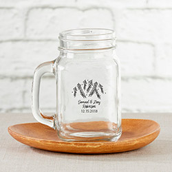 Personalized 16 oz. Mason Jar Mug - Winter