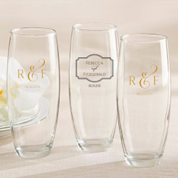 Personalized 9 oz. Stemless Champagne Glass – Classic