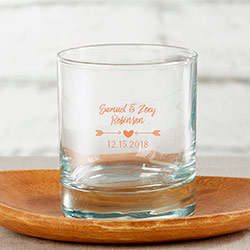 Personalized 9 oz. Rocks Glass - Winter