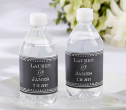 Personalized Water Bottle Labels - Chalk