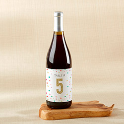 Wine Label Table Numbers - Party Time (1-20)