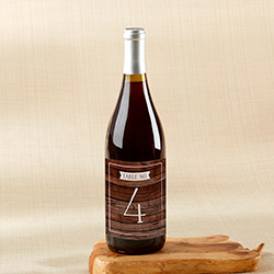 Winter Wine Label Table Numbers (1-20)