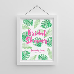 Personalized Poster (18x24) - Pineapples and Palms
